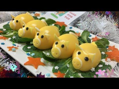 2019 год – Новый год Желтой Свиньи 🎄🎅 Гламурная Новогодняя Закуска 🎄🎅 Year of the yellow pig 2019 - Видео из ютуба