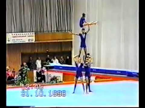 Mens Four from Azerbaijan. Sport Acrobatics