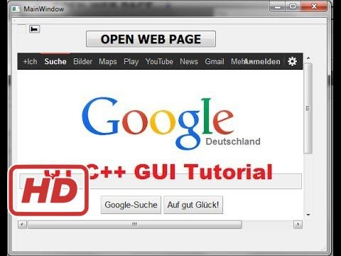 [Qt C++ Tutorial for beginners] QT C++ GUI Tutorial 29- How to use QWebView  and Open Web Page in QW