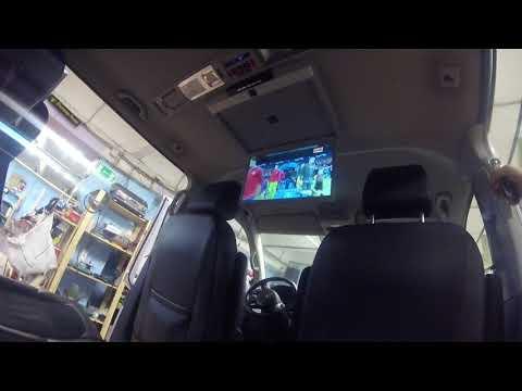 Установка потолочного монитора с Андроидом Ergo в Volkswagen Multivan T6