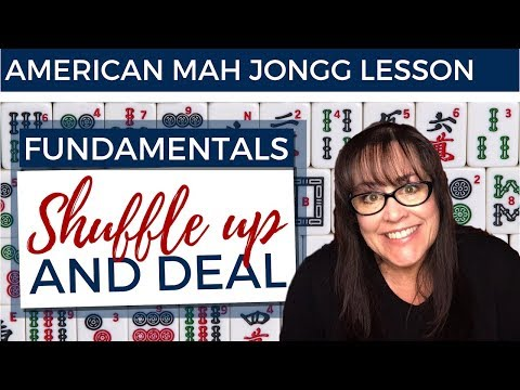 American Mah Jongg Lesson Fundamentals 8 Shuffle Up And Deal (mock Card)