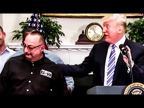 Trump Botches Big Time, Tells Steelworker His Still-Living Father Is 'Looking Down' On Him