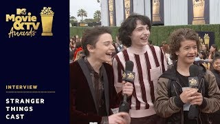 'Stranger Things' Cast send Get Well Wishes to Millie Bobby Brown | 2018 MTV Movie & TV Awards