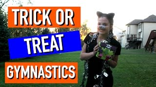 Trick or Treat Gymnastics Game!