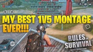 BEST SOLO FIRETEAM 1v5 MONTAGE (Kill Montage Ep.21) ROS Mobile Rules Of Survival