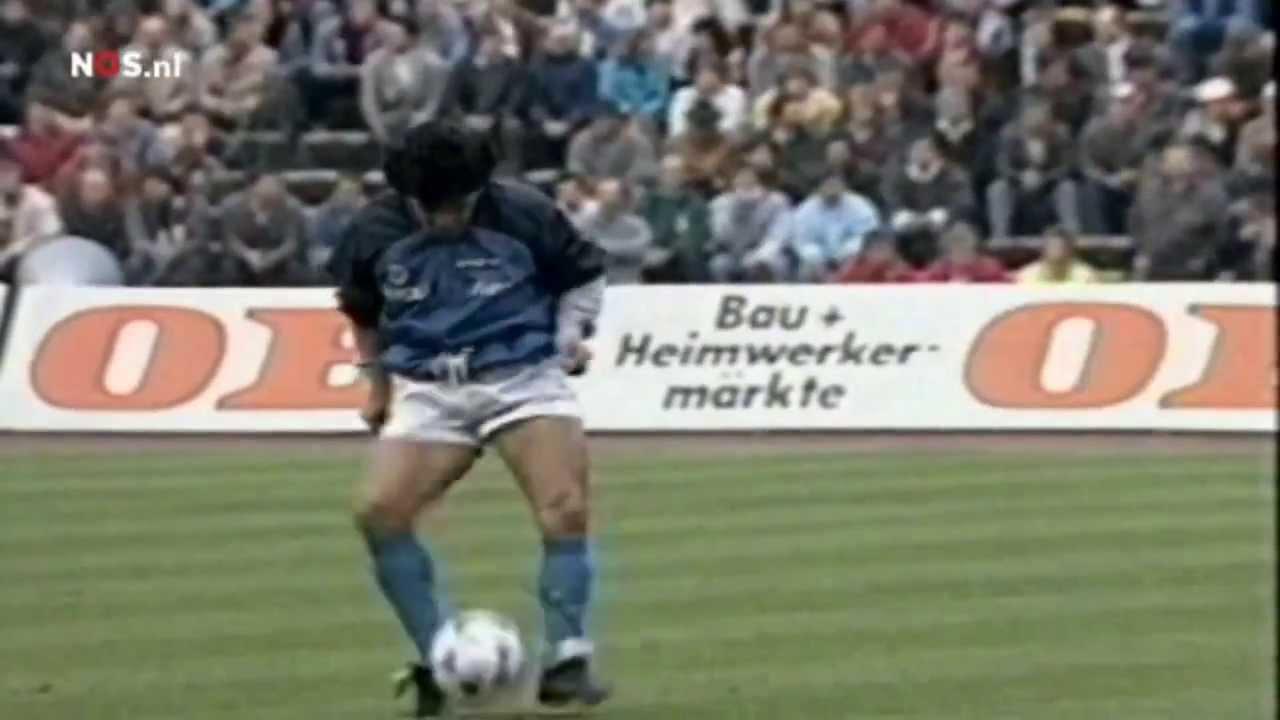 Diego Maradona Warm Up Semi Final Uefa Cup 1989 Youtube