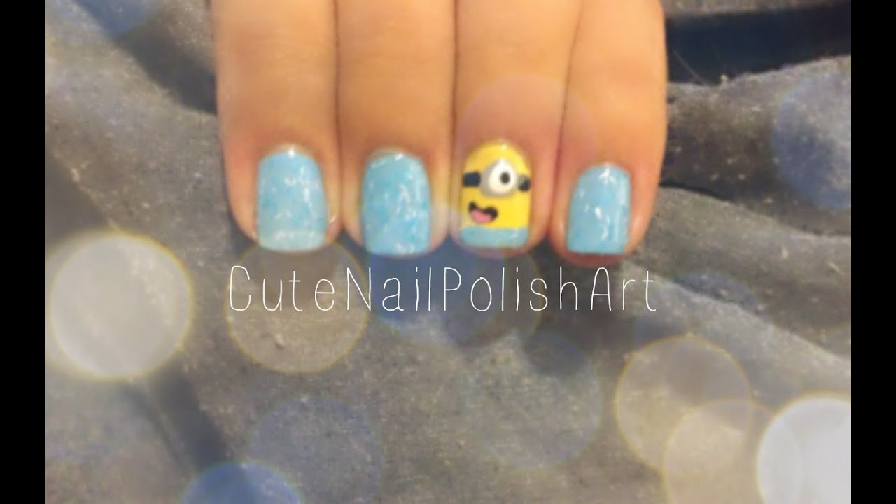 Despicable Me Minion Nails | CuteNailPolishArt - YouTube