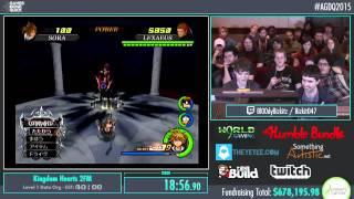 AGDQ 2015 Kingdom Hearts 2 FM data battles speedrun 60 fps HD