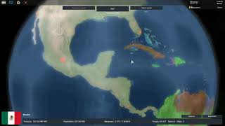I TOOK OVER THE U.S.A. AND CENTRAL AMERICA WITH MEXICO | Roblox: Rise of Nations