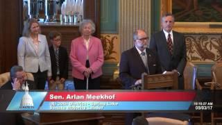 Sen. Meekhof delivers special tribute to Bob Wilson