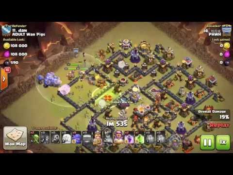 Clash of Clans | Mass Bowler Max TH11 3 Star WAR ATTACKS!!!!