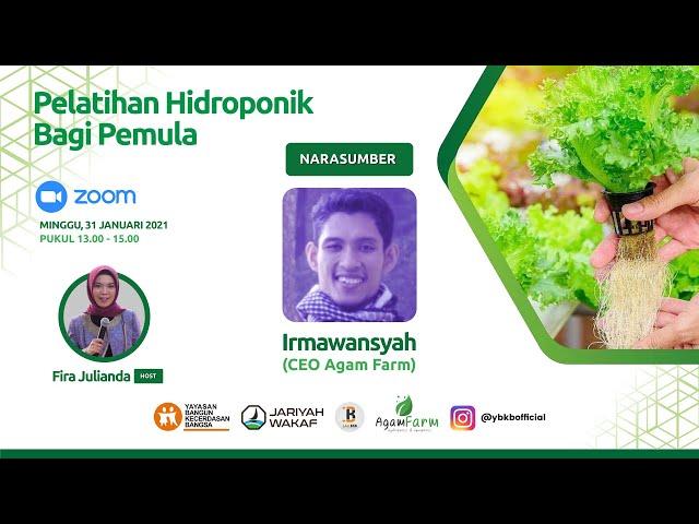 Pelatihan Hidroponik Bagi Pemula feat. Agam Farm