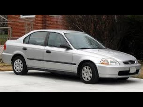 Checking out an old low mileage car, HONDA CIVIC EX 1998