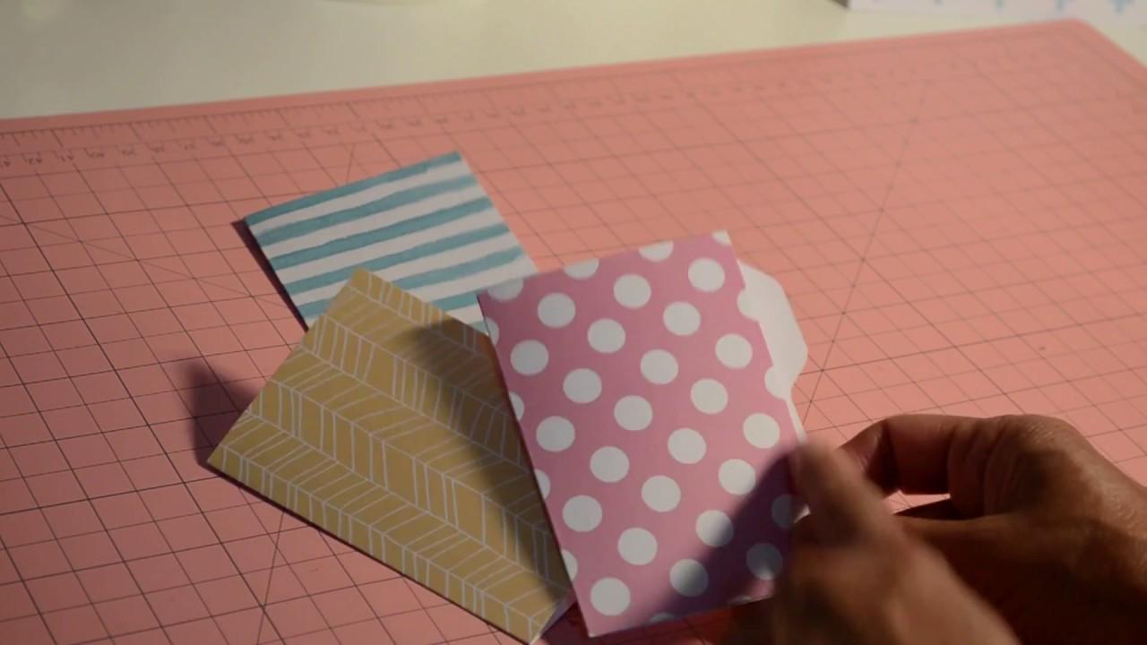 Mini File Folder Envelope Punch Board TUTORIAL