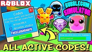 ALL ACTIVE CODES *WORKING* AND OPENING THE 60 BILLION BUBBLE PRIZE IN BUBBLEGUM SIMULATOR (Roblox)