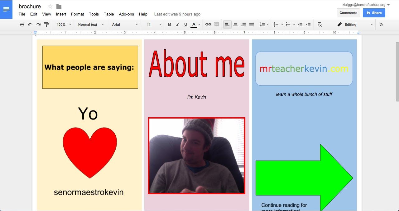 How to make a brochure in Google Docs - YouTube