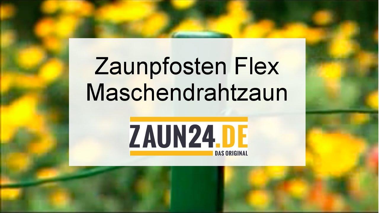 Zaunpfosten Flex für Maschendrahtzaun anpassen - Montageanleitung ...
