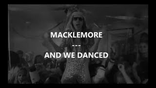 macklemore and we danced traduction by frenchtradrap