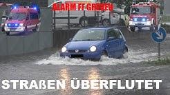 [Wasser im K+K + Anrückende FFler] Erneute Regen/Gewitter-Fronten ziehen über Greven-Kreis Steinfurt