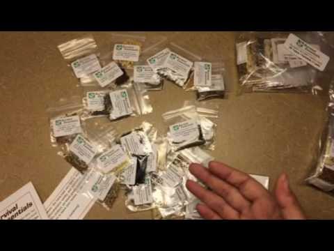 Survival Essentials 100 Variety Premium Heirloom Non Hybrid Non GMO Seed Bank - 17,880+ Seeds -