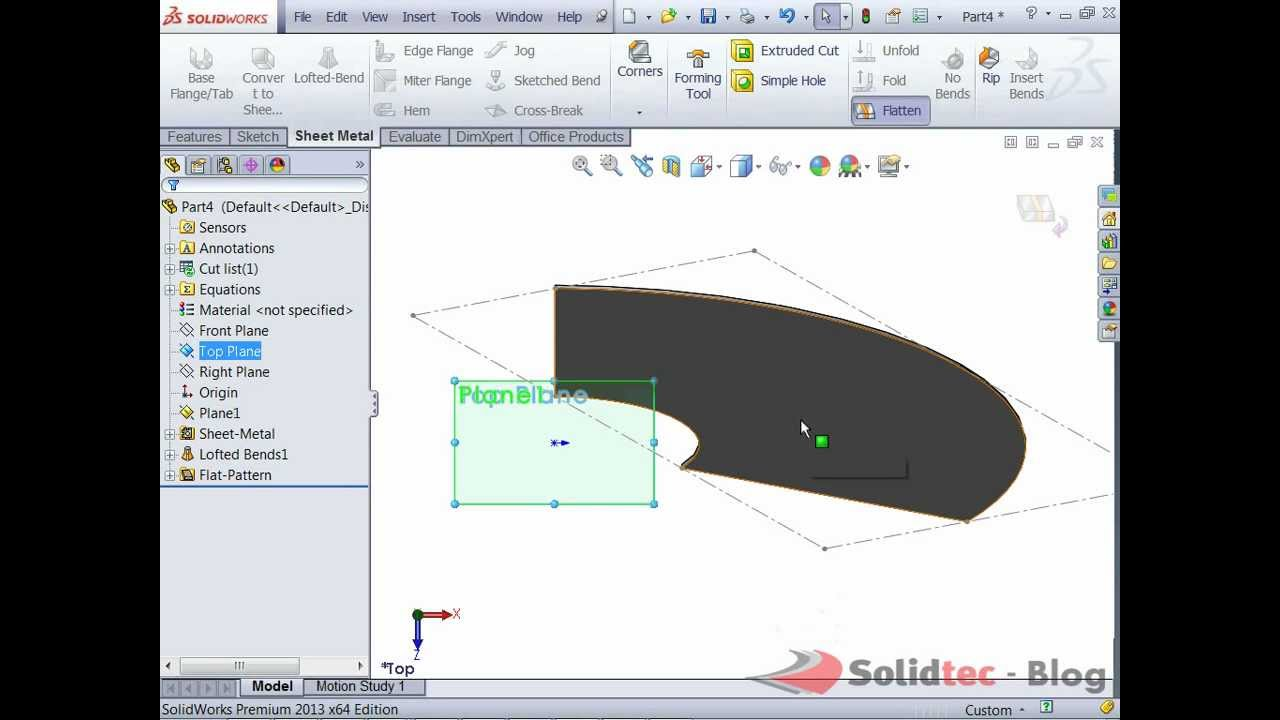 How To Create A Sheetmetal Cone Youtube