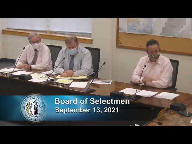 Board of Selectmen 9-13-21