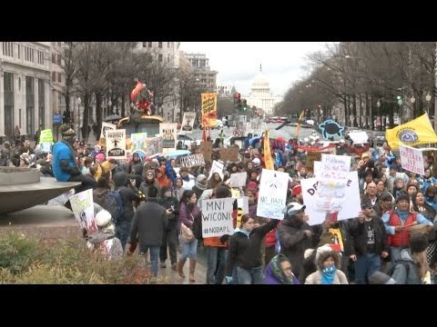 Native Americans Gather in D.C.  to Protest against North Dakota Pipeline