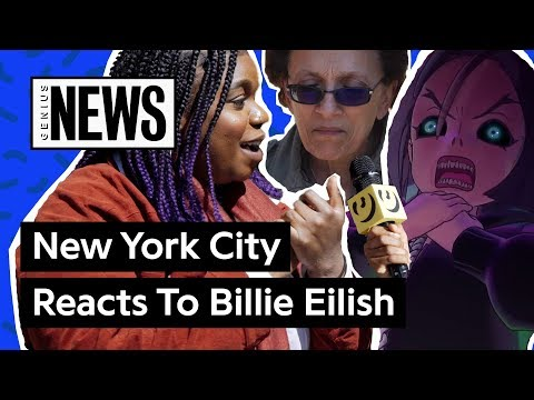 "NYC Reacts To Billie Eilish's ""you Should See Me In A Crown"" Animated Music Video 