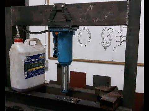 Prensa hidráulica casera. Parte 2: mecanizado del gato hidráulico