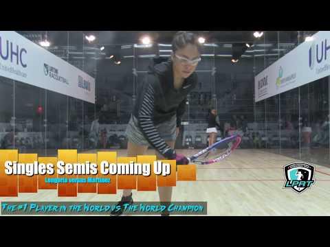 US OPEN 2018 Women\'s Pro Singles Semis Longoria vs Martinez