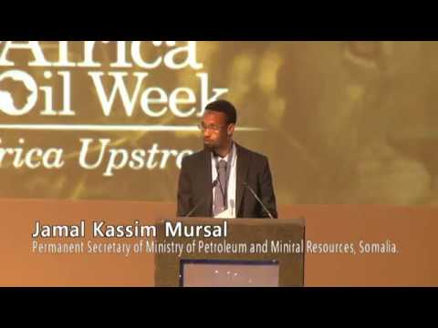Africa Oil Week: Speech about natural resources of Somalia by Jamal Khassim Mursal