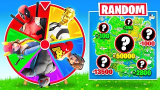 SPIN The WHEEL of BOSSES in Fortnite Battle Royale