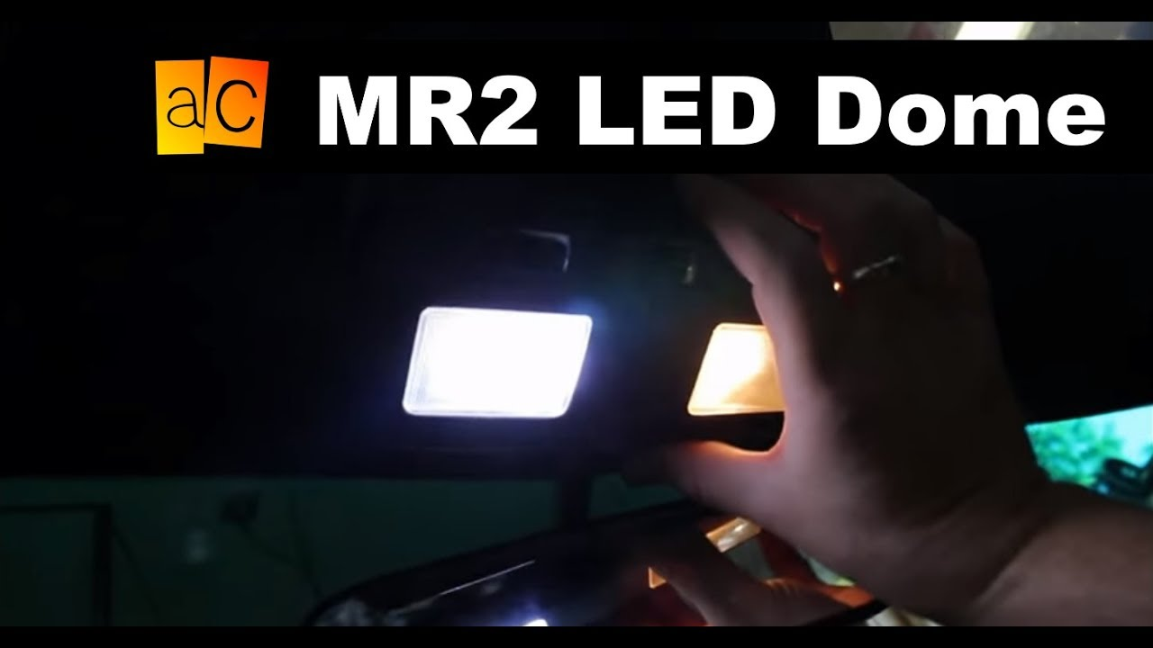 Mr2 led dome light install youtube for Led glow interior lights installation