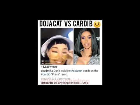 CardiB response to Dojacat mocking song press