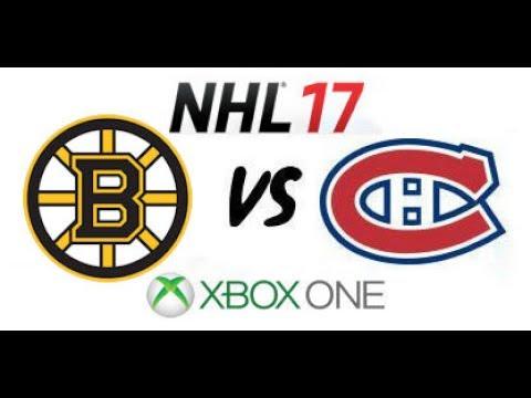 NHL 17 - Boston Bruins vs Montreal Canadiens - Xbox One