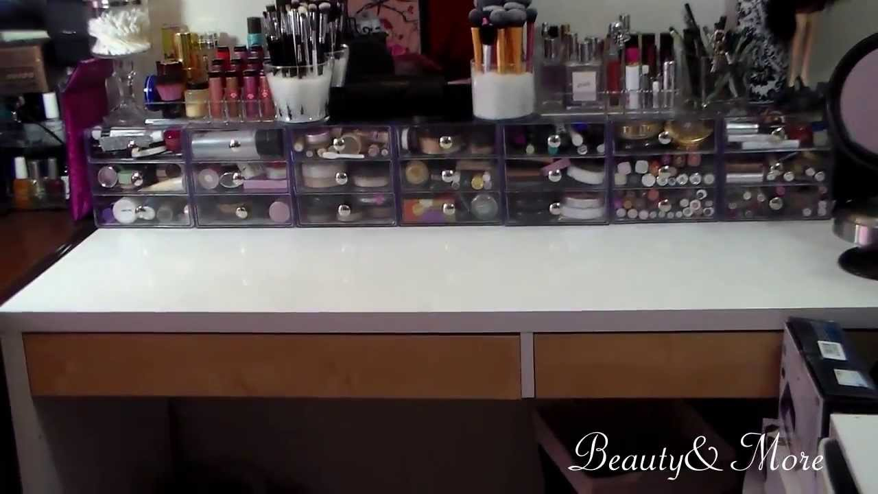 Vanity The Store Sign : Vanity tour how i store my makeup youtube
