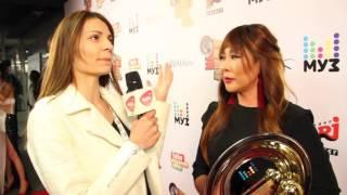 Анита Цой на Премия МузТВ 2016 - интервью с Анитой Цой