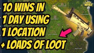 BEST Place To LAND For EASY WINS and LEGENDARY LOOT in FORTNITE! (Fortnite How To Win Tips)