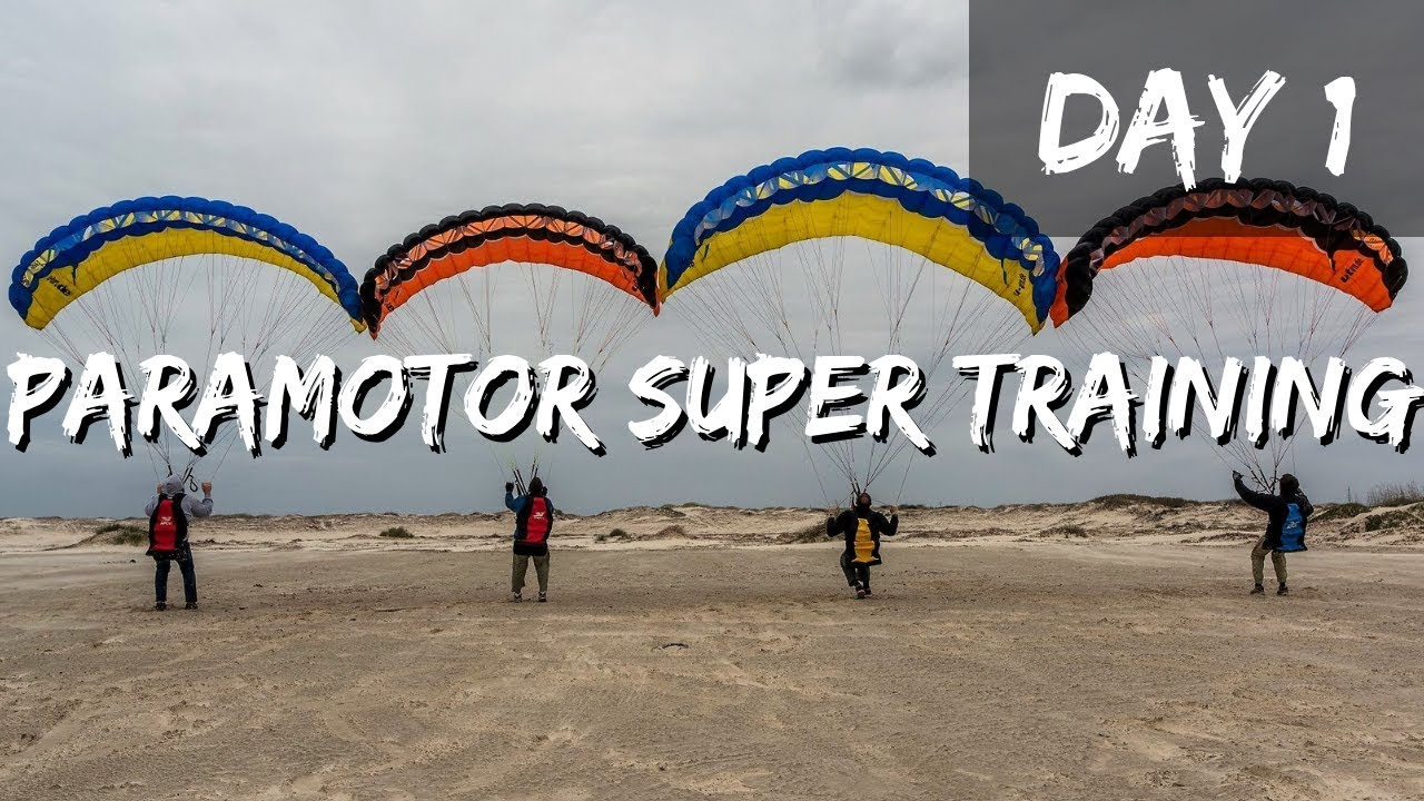 Paramotor Super Training Day 1!! Starting To Get The Basics!!