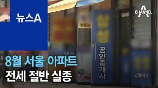 8월 서울 아파트 전세 절반 실종…반전세 비중은 늘어 …
