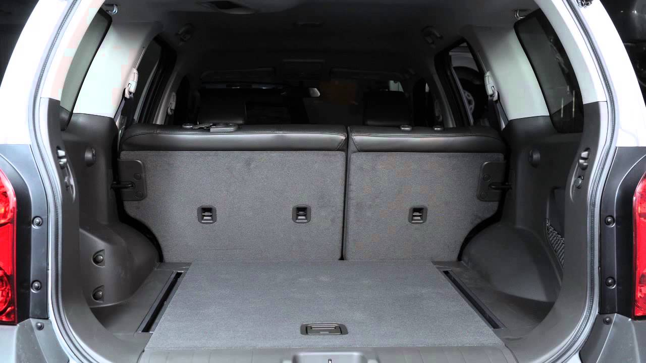 2013 Nissan Xterra Folding Rear Seats Youtube
