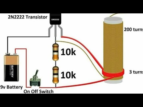 Mini Tesla coil# Tesla coil # home made with circuit diagram - YouTube