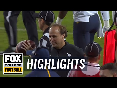 Holgorsen High-5s Trevone Boykin after ankle-breaking scramble - 2015 College Football Highlights