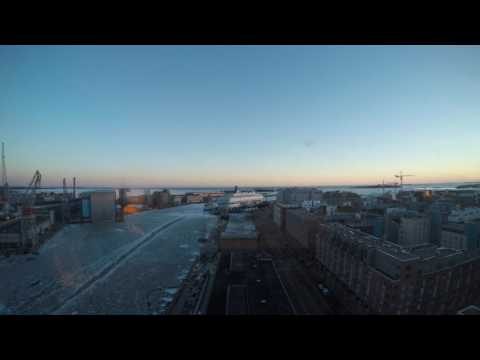 Clarion Hotel Helsinki Room view Time Lapse