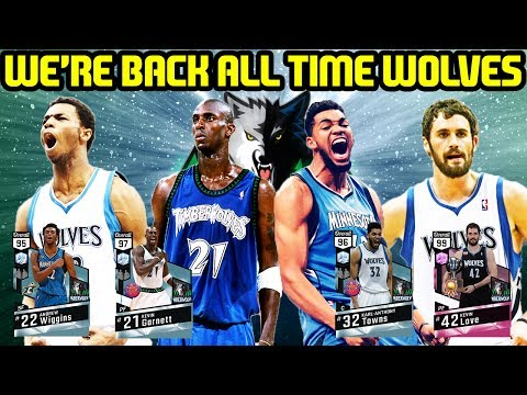 IM BACK! ALL TIME TIMBERWOLVES! NBA 2k17 MYTEAM ONLINE GAMEPLAY