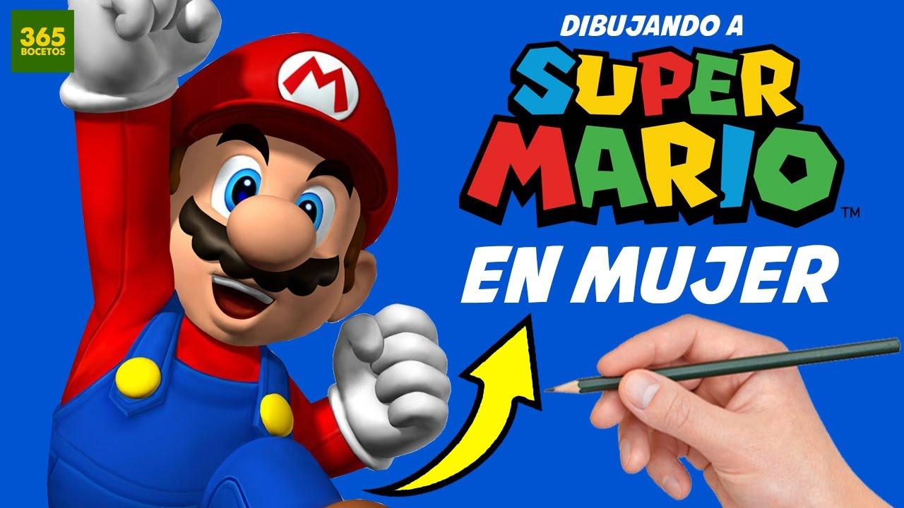 Como Dibujar A Mario Bros En Mujer How To Draw Mario Bros As If It Were A Girl