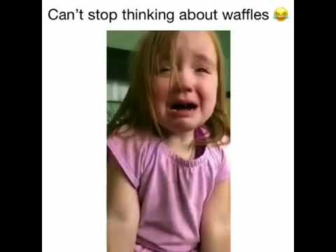 girl thinking about waffles