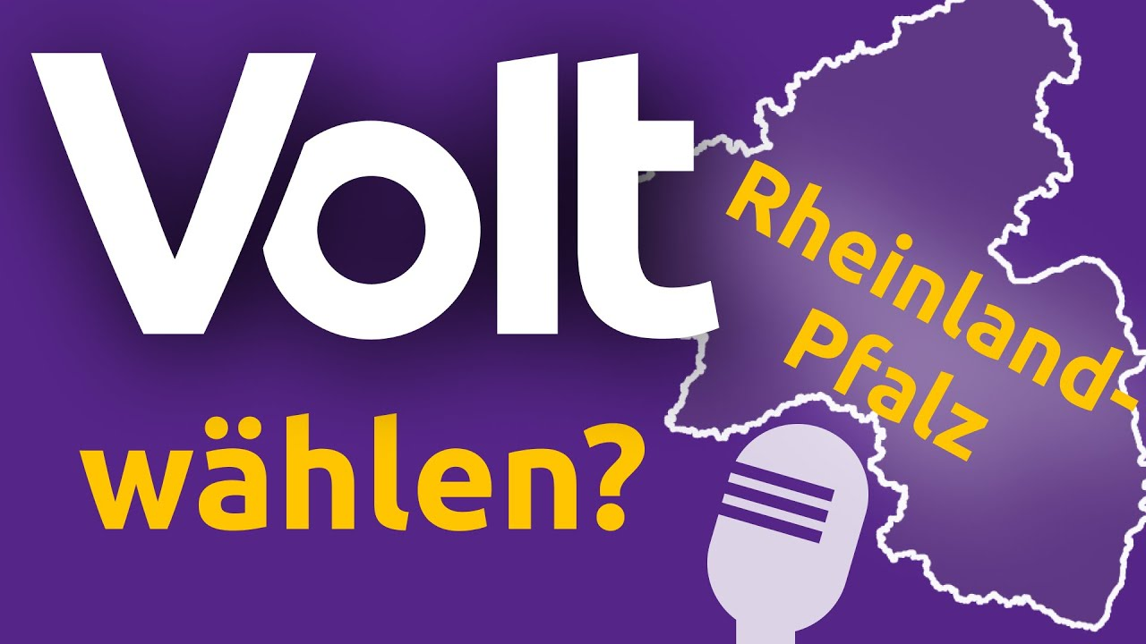 """YouTube: Wahl Rheinland-Pfalz """"Warum Volt wählen?"""" - Alexandra Barsuhn & Ron-David Röder Landtagswahl 2021"""