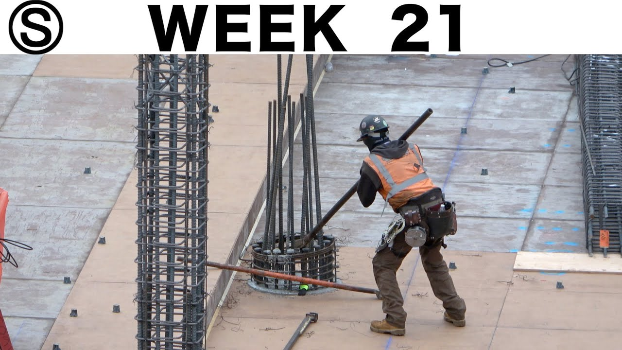 One-week construction time-lapse with closeups: Week 21 of the Ⓢ-series
