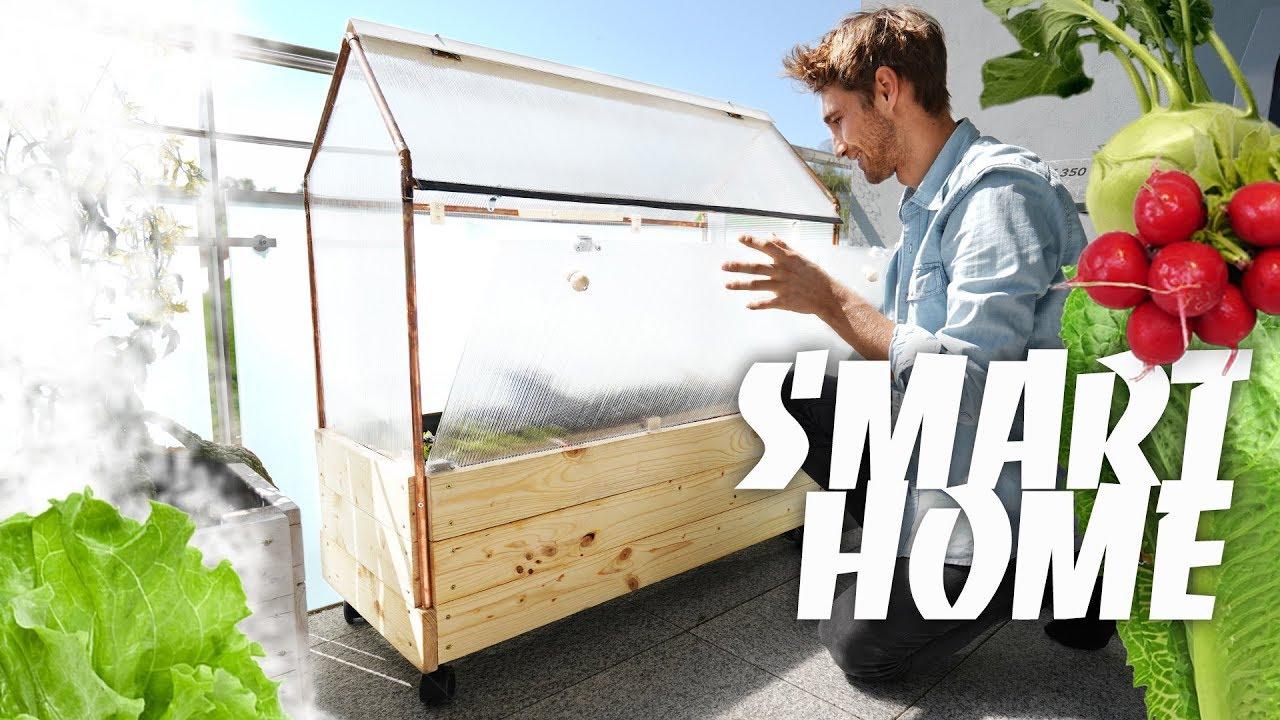 smart home im garten diy gew chshaus selber bauen. Black Bedroom Furniture Sets. Home Design Ideas
